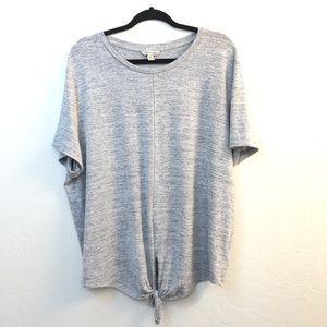 Calvin Klein Jeans Tie Bottom Short Sleeve Sweater
